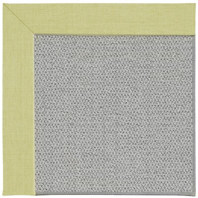 Inspirit Silver Machine Tufted Light Green/Gray Area Rug Rug Size: Square 10