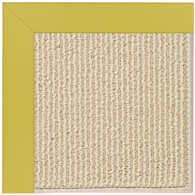 Zoe Machine Tufted Citronella Indoor/Outdoor Area Rug Rug Size: Round 12 x 12