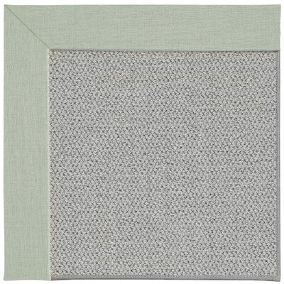 Inspirit Silver Machine Tufted Minty/Gray Area Rug Rug Size: Square 6