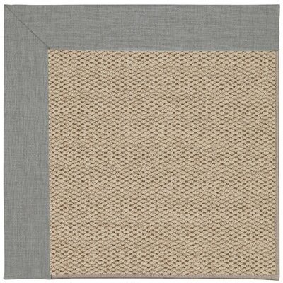Inspirit Champagne Machine Tufted Steel/Beige Area Rug Rug Size: Square 10
