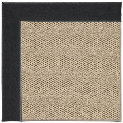 Inspirit Machine Tufted Onyx/Brown Area Rug Rug Size: Square 4