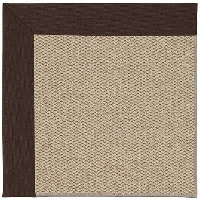 Inspirit Champagne Machine Tufted Cocoa/Beige Area Rug Rug Size: Square 8