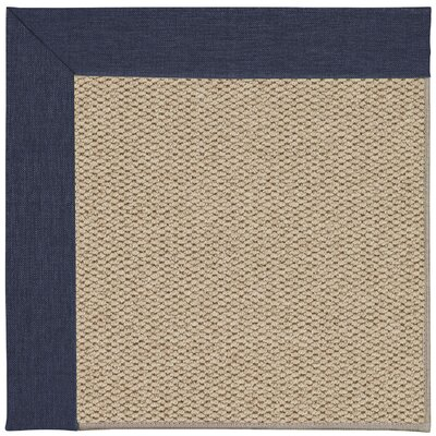 Inspirit Champagne Machine Tufted Ebony/Beige Area Rug Rug Size: Square 6