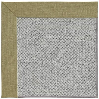 Inspirit Silver Machine Tufted Basil/Gray Area Rug Rug Size: Square 6