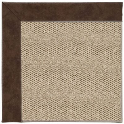 Inspirit Champagne Machine Tufted Burgundy/Beige Area Rug Rug Size: Square 8