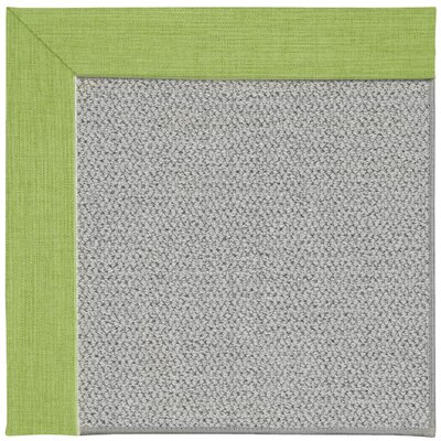 Inspirit Silver Machine Tufted Green Grass/Gray Area Rug Rug Size: Round 12 x 12