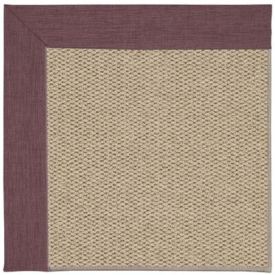 Inspirit Champagne Machine Tufted Bluebell/Beige Area Rug Rug Size: Square 4