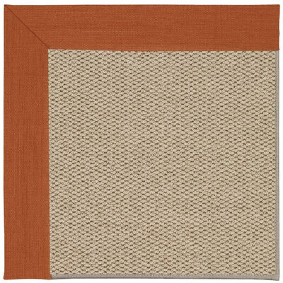 Inspirit Machine Tufted Persimmon/Beige Area Rug Rug Size: Square 8