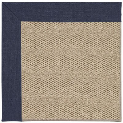Inspirit Champagne Machine Tufted Navy Area Rug Rug Size: Square 4
