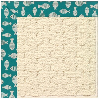 Zoe Off White Indoor/Outdoor Area Rug Rug Size: Rectangle 9 x 12