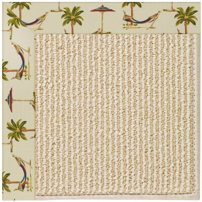 Zoel Machine Tufted Beige Indoor/Outdoor Area Rug Rug Size: Round 12 x 12