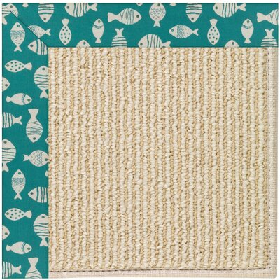 Zoe Machine Tufted Sea Green Indoor/Outdoor Area Rug Rug Size: Square 6