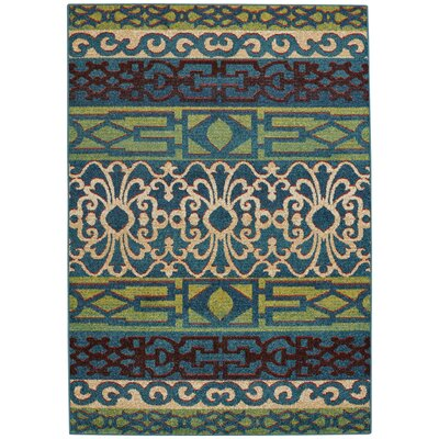 Greenwich Balcony Machine Woven Ocean Indoor/Outdoor Area Rug Rug Size: 310 x 55