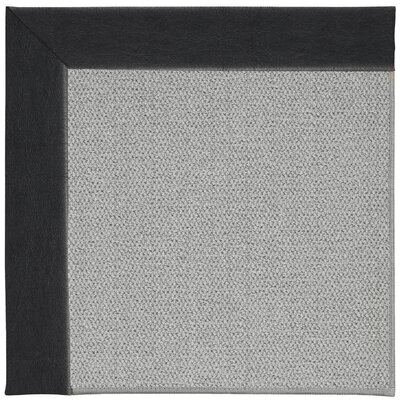 Inspirit Silver Machine Tufted Onyx/Gray Area Rug Rug Size: Square 6