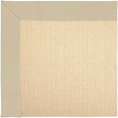 Zoe Machine Tufted Ecru/Beige Indoor/Outdoor Area Rug Rug Size: Square 10