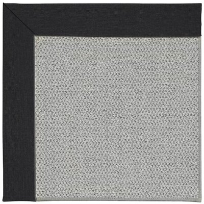 Inspirit Machine Tufted Ebony Area Rug Rug Size: Square 8