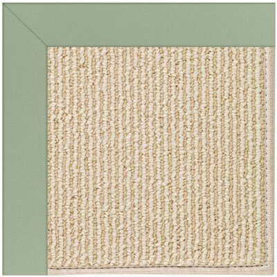 Zoe Machine Tufted Light Jade/Beige Indoor/Outdoor Area Rug Rug Size: Square 10