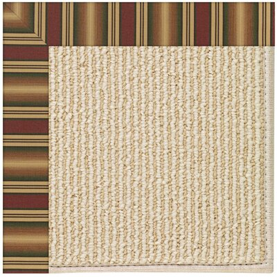 Zoe Machine Tufted Ginger/Beige Indoor/Outdoor Area Rug Rug Size: 7 x 9
