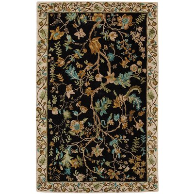 Garden Farms #3 Hand Tufted Onyx Area Rug Rug Size: 5 x 8