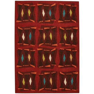 Greenwich Bongos Machine Woven Sunset Red Indoor/Outdoor Area Rug Rug Size: 52 x 76