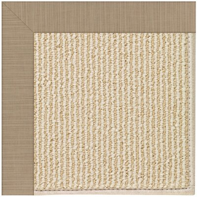 Zoe Machine Tufted Sandy/Beige Indoor/Outdoor Area Rug Rug Size: 7 x 9