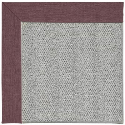 Inspirit Machine Tufted Bluebell/Gray Area Rug Rug Size: Square 6