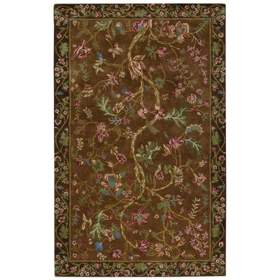 Garden Farms #3 Hand Tufted Multi-colored Area Rug Rug Size: 5 x 8