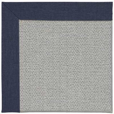 Inspirit Silver Machine Tufted Navy/Gray Area Rug Rug Size: Square 8