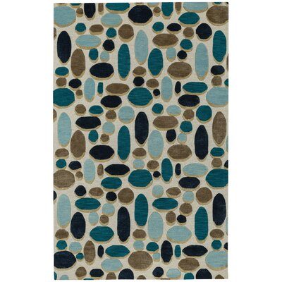 Evening Shade Hand Tufted Ecru Coffee Area Rug Rug Size: 9 x 12