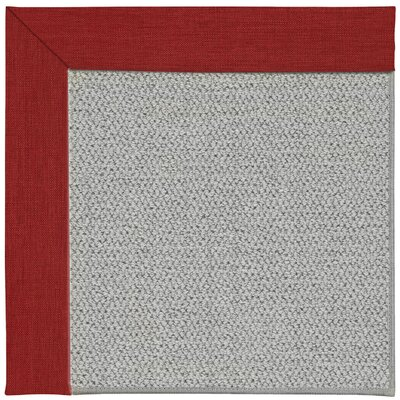 Inspirit Silver Machine Tufted Apple Red/Brown Area Rug Rug Size: Square 10
