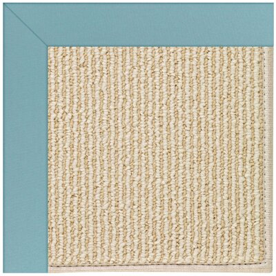 Zoe Machine Tufted Bright Blue/Beige Indoor/Outdoor Area Rug Rug Size: Square 6