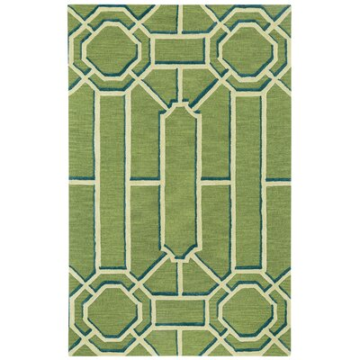 Williamsburg Ironworks Hand Tufted Spa Green Area Rug Rug Size: 5 x 8