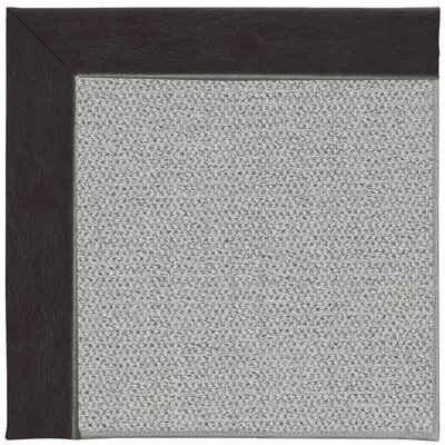 Inspirit Silver Machine Tufted Black/Gray Area Rug Rug Size: Square 4