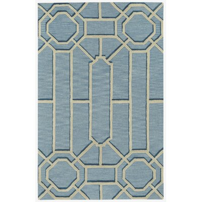 Williamsburg Ironworks Hand Tufted Pale Blue Area Rug Rug Size: 5 x 8
