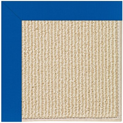 Zoe Machine Tufted Reef Blue/Beige Indoor/Outdoor Area Rug Rug Size: Round 12 x 12