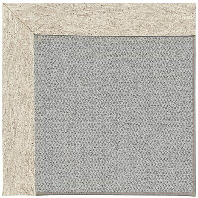 Inspirit Silver Machine Tufted Natural Area Rug Rug Size: Square 4