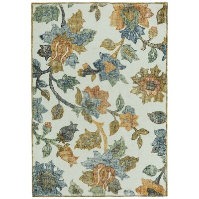Highlands Hand Tufted Cream Multi Area Rug Rug Size: 5 x 8