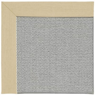 Inspirit Silver Machine Tufted Ivory/Gray Area Rug Rug Size: Square 6