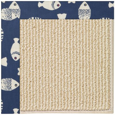 Zoe Machine Tufted Pitch/Beige Indoor/Outdoor Area Rug Rug Size: Round 12 x 12