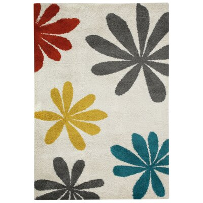 Glendale Machine Woven Beige Blossom Area Rug Rug Size: 710 x 11