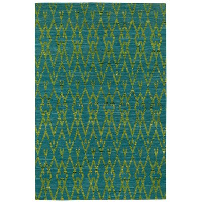 Walnut Creek Flat Woven Ocean Area Rug Rug Size: 5 x 8