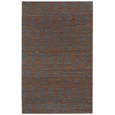 Walnut Creek Flat Woven Slate Area Rug Rug Size: 5 x 8