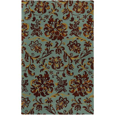 Monaco Hand Tufted Seafoam Umber Area Rug Rug Size: Rectangle 5 x 8