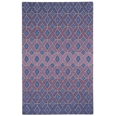 Kevin OBrien Rossio Hand Tufted Purple Area Rug Rug Size: 5 x 8