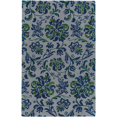 Monaco Hand Tufted Nickel Navy Area Rug Rug Size: 5 x 8