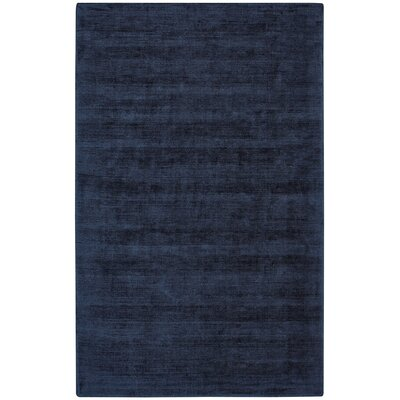 Abbotsfield Hand Tufted Dark Blue Area Rug Rug Size: 36 x 56