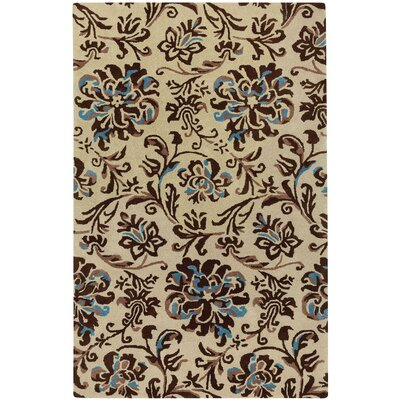 Monaco Hand Tufted Light Beige River Rock Area Rug Rug Size: 7 x 9