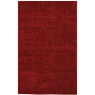 Abbotsfield Hand Tufted Crimson Area Rug Rug Size: 36 x 56