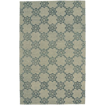 Kevin OBrien Link Hand Tufted Green Area Rug Rug Size: 5 x 8