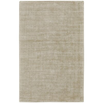 Abbotsfield Hand Tufted Ecru Area Rug Rug Size: 3'6